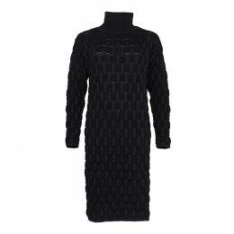 HASANOVA - Printed Champagne Velvet Skirt