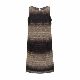 Nero Studio - Shaded Brown Ruffle Dress