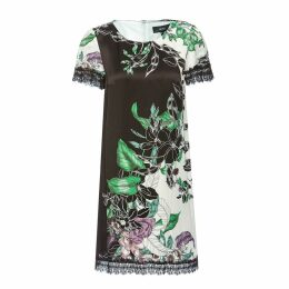 Nissa - H-Line Viscose Dress With Floral Print