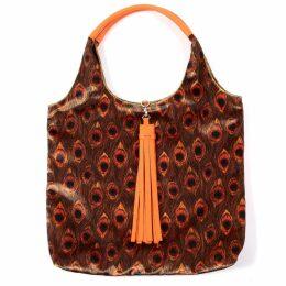 HASANOVA - Red Lily Printed Red Silk Maxi Dress