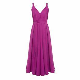 UNDRESS - Iris Magenta Pink Extremely Flared Midi Dress
