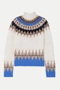 Stine Goya - Justin Fair Isle Wool-blend Turtleneck Sweater - Ivory