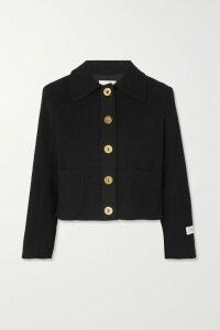 rag & bone - Theon Oversized Striped Cable-knit Merino Wool Sweater - Gray
