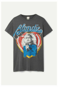 MadeWorn - Blondie Distressed Printed Cotton-jersey T-shirt - Charcoal