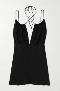 RtA - Mick Metallic Knitted Turtleneck Sweater - Silver
