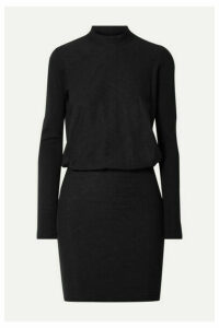 James Perse - Slub Stretch-cotton Jersey Mini Dress - Black