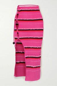 Etro - Dégradé Paisley-print Fil Coupé Silk-blend Chiffon Dress - Copper