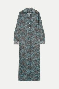 ACK - Medusa Tiger-print Chiffon Maxi Dress - Brown