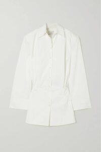 Saloni - Isabel B Printed Silk-georgette Mini Dress - Pink