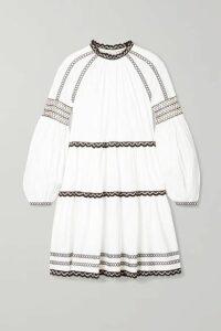 Ulla Johnson - August Embroidered Cotton-poplin Mini Dress - White