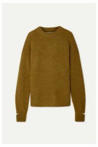Tibi - Airy Oversized Alpaca-blend Sweater - Sage green