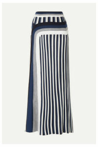Gabriela Hearst - Vasily Striped Wool Midi Skirt - Navy