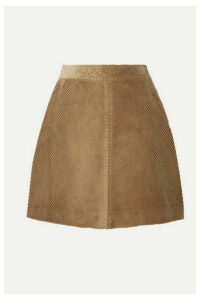 Vanessa Bruno - Juna Cotton-corduroy Mini Skirt - Sand