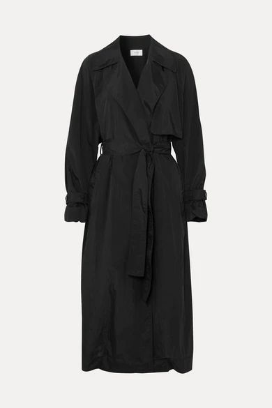 The Row - Kareem Belted Shell Trench Coat - Black