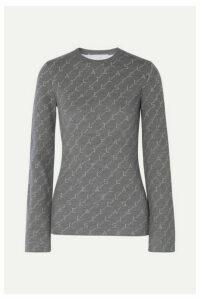 Stella McCartney - Intarsia Wool-blend Sweater - Gray