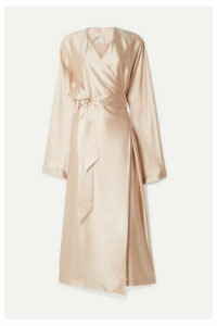 La Collection - Eleni Belted Silk-satin Wrap Dress - Pink