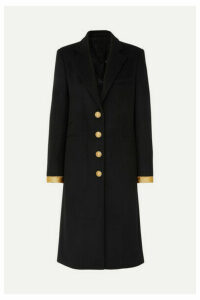 Paco Rabanne - Caban Button-embellished Wool-blend Coat - Black