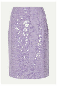 Dries Van Noten - Sequined Crepe Skirt - Lilac