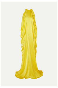 Halpern - Draped Satin Gown - Yellow