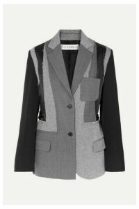 JW Anderson - Patchwork Wool, Twill And Satin Blazer - Gray