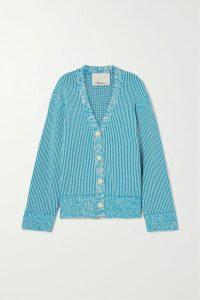 Alessandra Rich - Button-embellished Wool-blend Tweed Mini Dress - Black