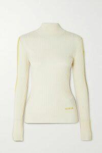 Erdem - Alta Ruffled Floral-print Stretch-jersey Midi Dress - Navy