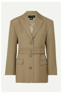 LOW CLASSIC - Belted Wool-blend Blazer - Beige