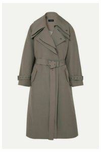 LOW CLASSIC - Belted Layered Canvas Trench Coat - Beige
