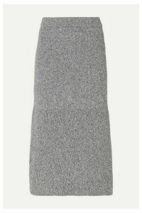 Tibi - Fluted Mélange Knitted Midi Skirt - Gray