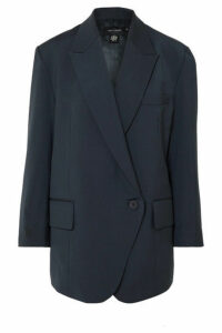 LOW CLASSIC - Oversized Woven Blazer - Navy