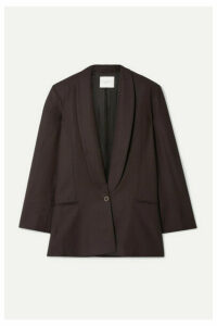 Envelope1976 - Bahamas Oversized Wool-crepe Blazer - Dark brown