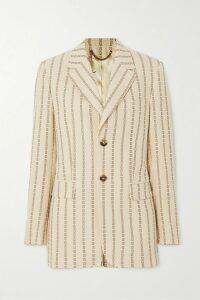 Monique Lhuillier - Velvet-trimmed Sequined Embroidered Tulle Midi Dress - Black