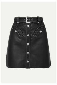 Maje - Janaille Belted Leather Mini Skirt - Black