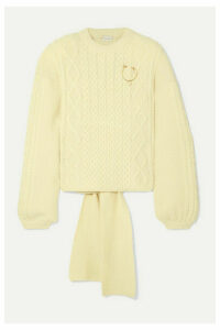 Magda Butrym - Braid City Embellished Cable-knit Wool And Cashmere-blend Sweater - Cream