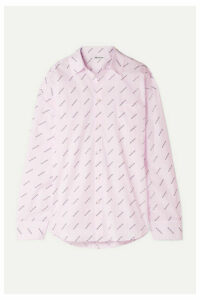 Balenciaga - Oversized Striped Printed Cotton Shirt - Pastel pink