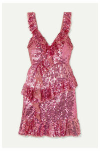 Needle & Thread - Scarlett Sequined Tulle Mini Dress - Pink