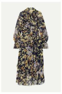 Zimmermann - Sabotage Ruffled Floral-print Crepon Midi Dress - Navy