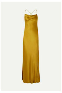 Michelle Mason - Silk-satin Gown - Mustard
