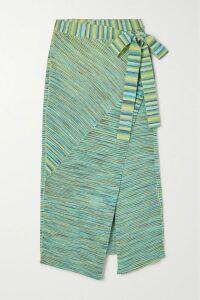 Rosie Assoulin - Striped Cotton-blend Poplin Maxi Dress - Light blue