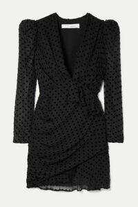 IRO - Callagan Polka-dot Flocked Silk-blend Chiffon Mini Dress - Black