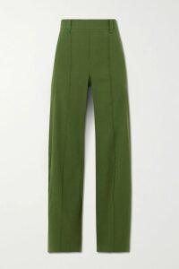 Michelle Mason - One-shoulder Draped Silk-satin Mini Dress - Mustard