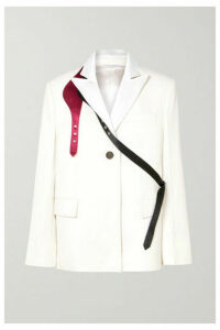 Peter Do - Buckled Satin-trimmed Crepe Blazer - White