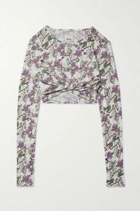 Rosie Assoulin - Mary Had A Little Lamb Flocked Cotton-blend Chiffon Dress - White