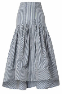 Rosie Assoulin - Striped Taffeta Midi Skirt - Blue