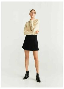 Pleated hem miniskirt