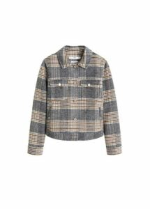 Checked texture jacket