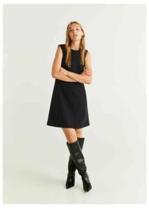 Seam-detail shift dress