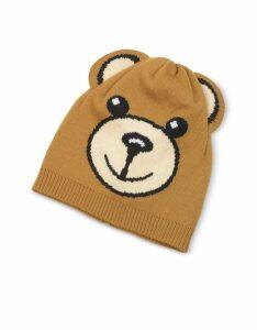 Moschino Designer Women's Hats, Moschino Teddy Bear Ears Beanie