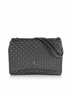 Roccobarocco Designer Handbags, RB Small Releve Quilted Eco Leather Shoulder Bag