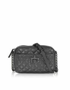 Roccobarocco Designer Handbags, RB Small Releve Quilted Eco Leather Shoulder Bag